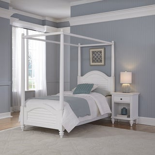 Home Styles Bermuda Twin Canopy Bed and Night Stand
