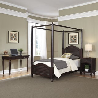 Home Styles Bermuda Twin Canopy Bed, Night Stand, and Student Desk