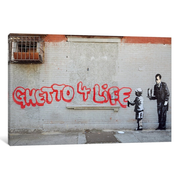 Banksy Ghetto 4 Life Canvas Wall Art