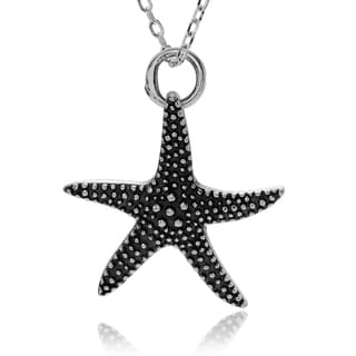 Journee Collection Sterling Silver Bali Starfish Pendant