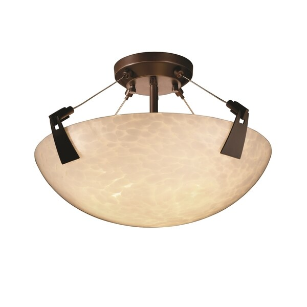 Justice Design Group Fusion Tapered Clips 3-light Semi-Flush