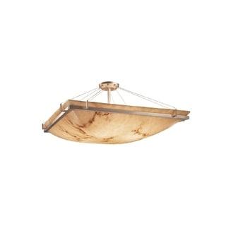 Justice Design Group LumenAria Ring 3-light Semi-Flush