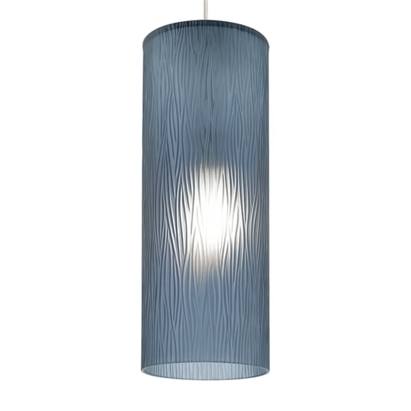 LBL Akari 1 Light Steel Blue Bronze Fluorscent Pendant
