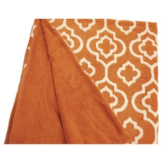 "BOON Jacquard Sherpa Throw Blanket 50""x60"""