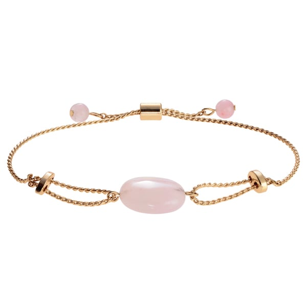 Journee Collection Metal Quartz Stone Adjustable Bracelet