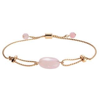 Journee Collection Metal Quartz Stone Adjustable Bracelet