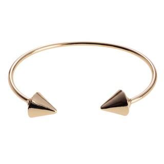 Journee Collection Metal Spike End Cuff Bracelet