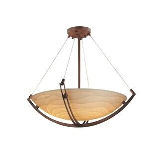 Justice Design Group Porcelina Crossbar 48 inch Round Pendant, Waves
