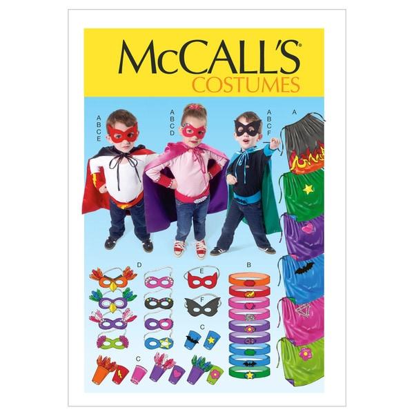 Children/Boys'/Girls' Cape, Belt, Cuffs and Masks-All Sizes in One Envelope