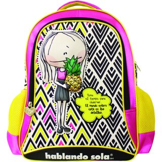 Hablando Sola Yellow and Pink Pineapple Backpack