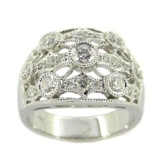 Kabella 18k White Gold 7/8ct TDW Round Diamond Ring (G-H, SI1-SI2)