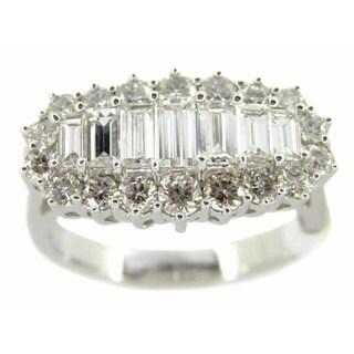 Kabella 18k White Gold 1 1/2ct TDW Baguette Diamond Ring (G-H, SI1-SI2)