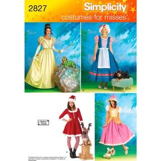 SIMPLICITY MISSES' COSTUME AND DOG COSTU-6,8,10,12