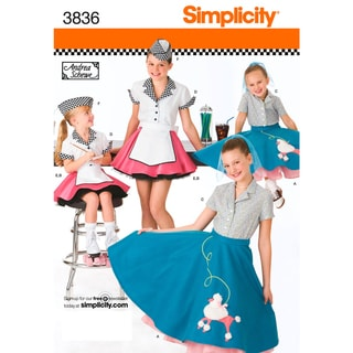 SIMPLICITY CHILDS AND GIRLS COSTUMES-3,4,5,6