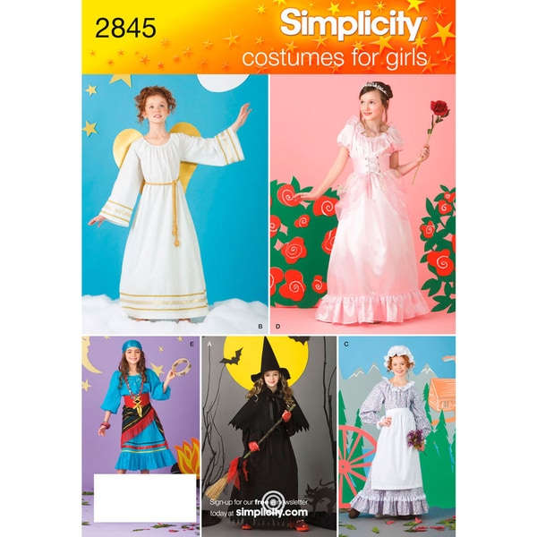 Simplicity Child And Girl Costume-2-4, 6-8, 10-12