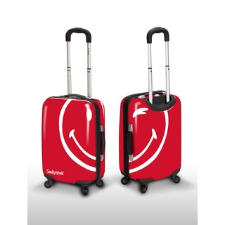 Smiley World Wink Red 26-inch Expandable Hardside Spinner Upright Suitcase