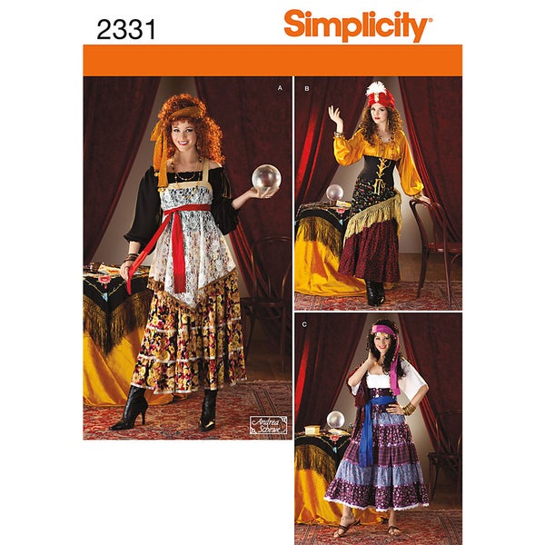 SIMPLICITY CRAFTS COSTUMES-14-16-18-20-22