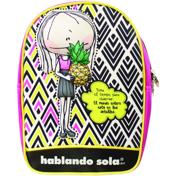 Hablando Sola Pink and Yellow Lunchbag