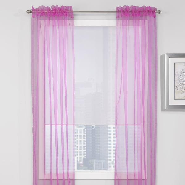 Teen Vogue Sheer Window Panel Set