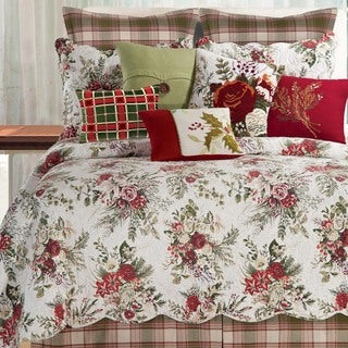 Jardin Rouge Quilt and Sham Separates