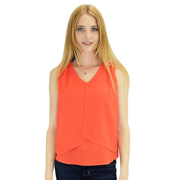 Relished Women's Contemporary Gigi Red Sleeveless Blouse