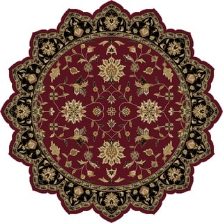 Hand-Tufted Selsey Border Indoor Wool Rug (8' Star)