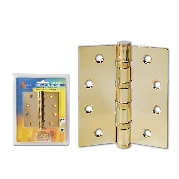 Brass Finish Curved Hole Ball Bearing Door Hinge