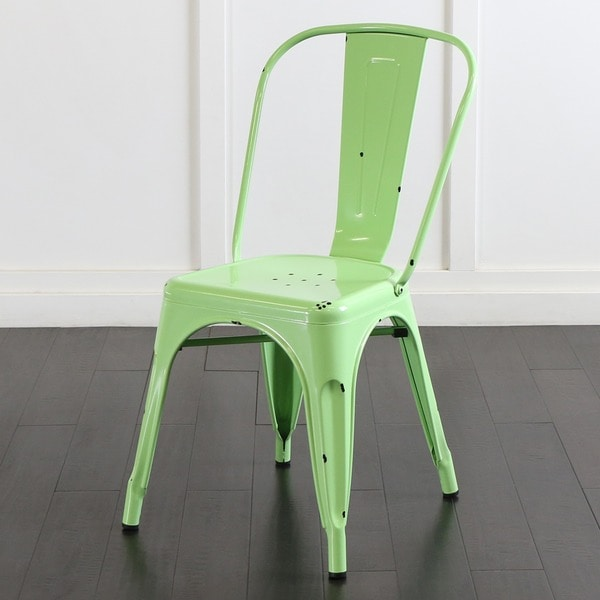 Metal Caf Chair - Spring Green