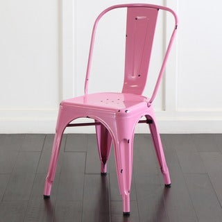 Metal Cafe Chair - Bubble Gum Pink