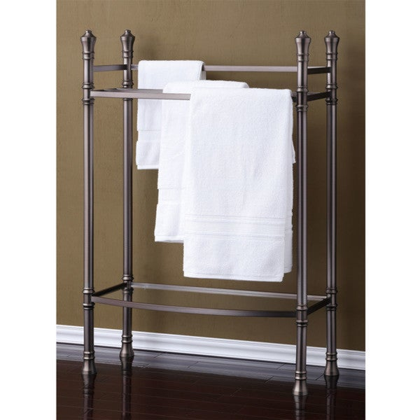 Best Living Monaco Brushed Titanium Towel Stand 16198931