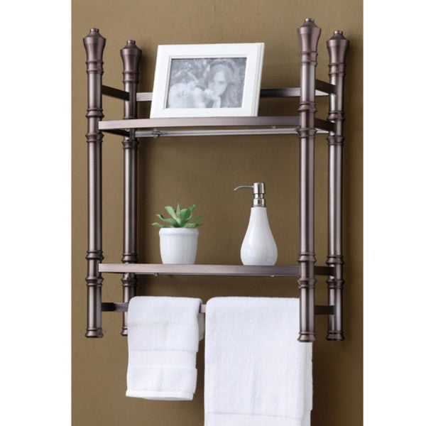 Best Living Monaco Brushed Titanium Wall-mount Small Etagere 16198942