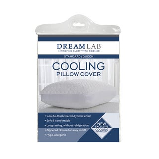 Cooling Jacquard White Pillow Cover with Mesh