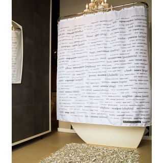 Russian Vocabulary Shower Curtain