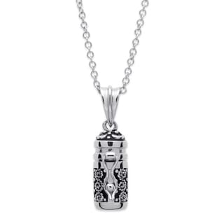 Prayer Keeper Antiqued Capsule Personalized Pendant