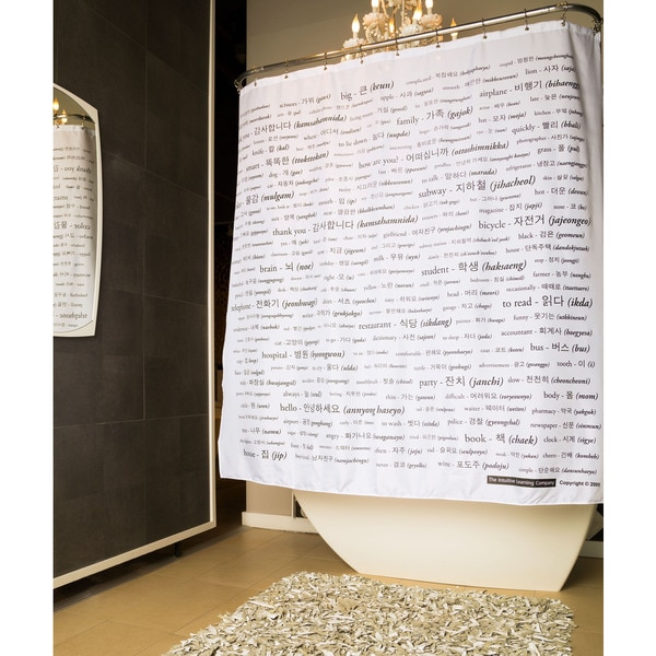 Korean Vocabulary Shower Curtain