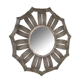 Bombay Company Antiqued Silver Lotus Mirror
