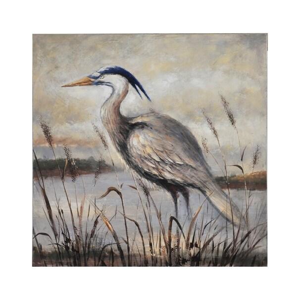 Bombay Gray Egret Wall Canvas