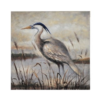 Bombay Gray Egret Wall Canvas