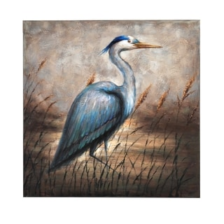 Bombay Blue Egret Wall Canvas