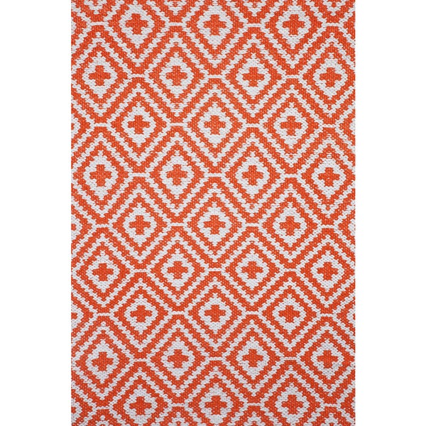 Apricot Home Lily Orange All-weather Rug (2' x 3')
