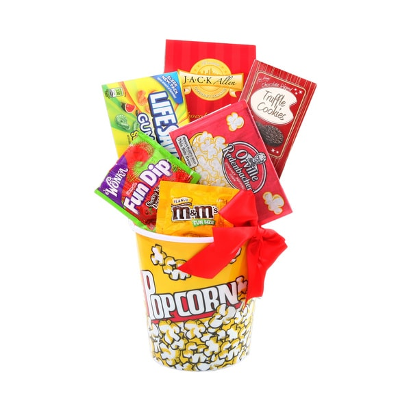 Holiday Movie Night Gift Basket