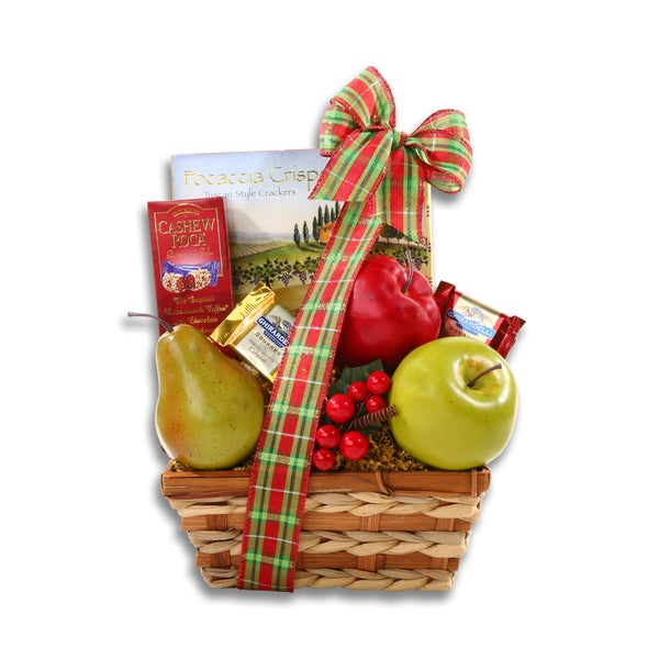 Holiday Wicker Fruit Basket