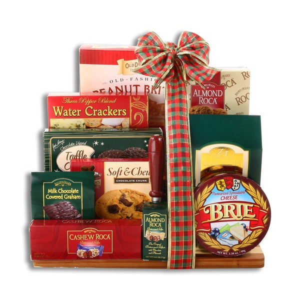 Cheese and Crackers Holiday Cutting Board Gift Collection