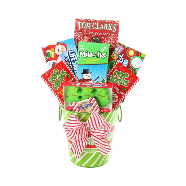 Santa's Coming To Town Candy Gift Basket