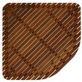 Bare Decor Erika Corner Shower Spa Mat in Solid Teak Wood and Oiled Finish, X-Large, 30x 30