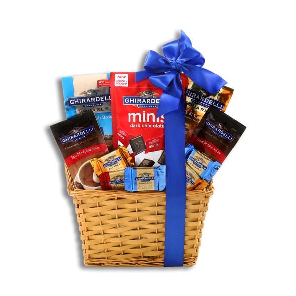 Holiday Chocolate Wicker Gift Basket