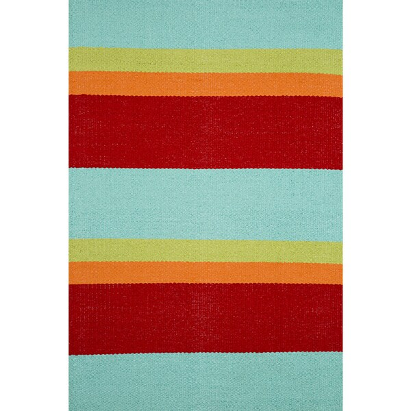 Apricot Home Mike Multi Stripe All-weather Rug (2' x 3')