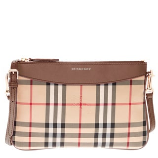 Burberry Horseferry Check Peyton Clutch Bag