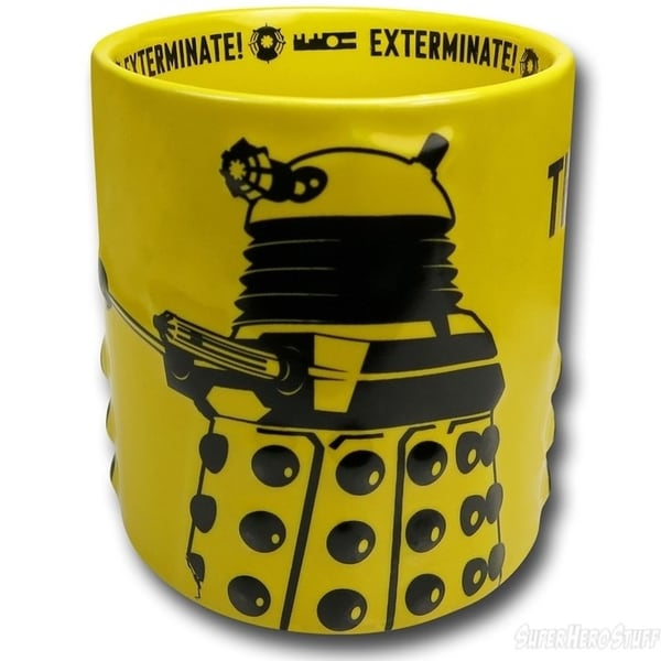 Doctor Who The Daleks Exterminate Ceramic Coffee Mug