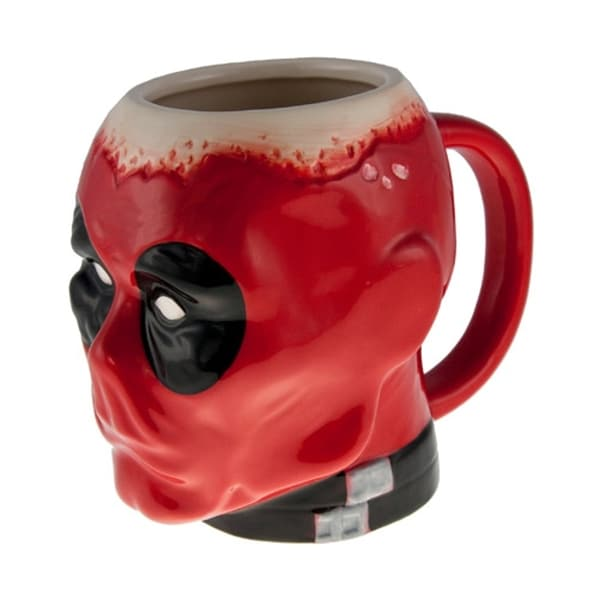 Marvel Deadpool Face 16-ounce Ceramic Coffee Cup
